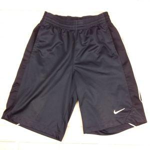 "Nike Sm Shorts 11"" Elastic Waist Drawstring Blue"